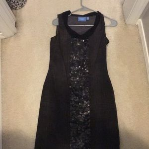 Brown sequined dress